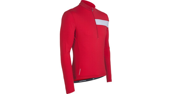 Icebreaker LS Circuit Jersey rocket/silver